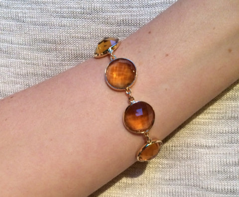 Citrine Gum Drop Bracelet