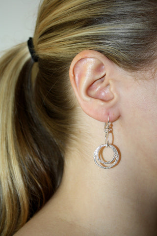 Drop Hoop Earring