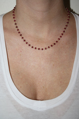 Ruby Beaded Chain