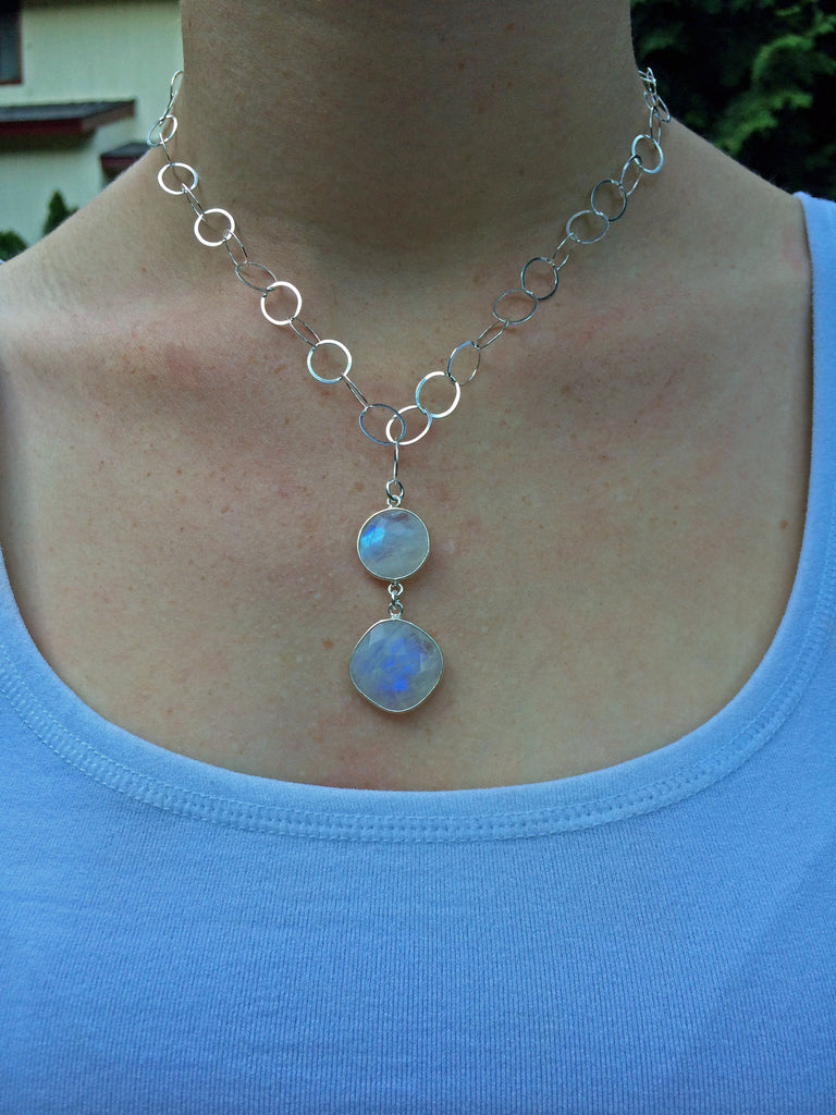 Double Moonstone Pendant
