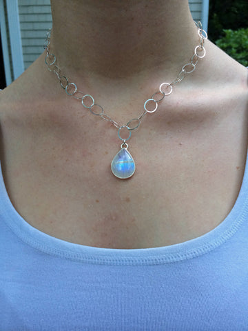 Small Teardrop Moonstone