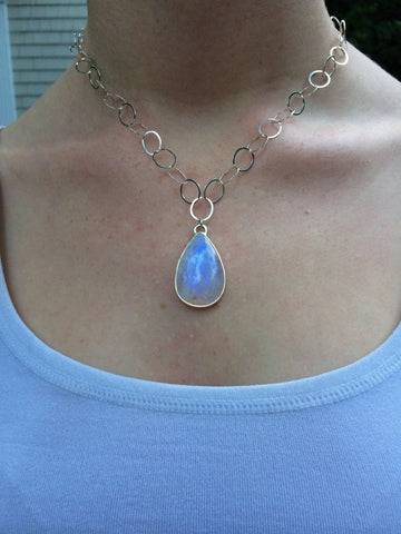 Oval Teardrop Moonstone