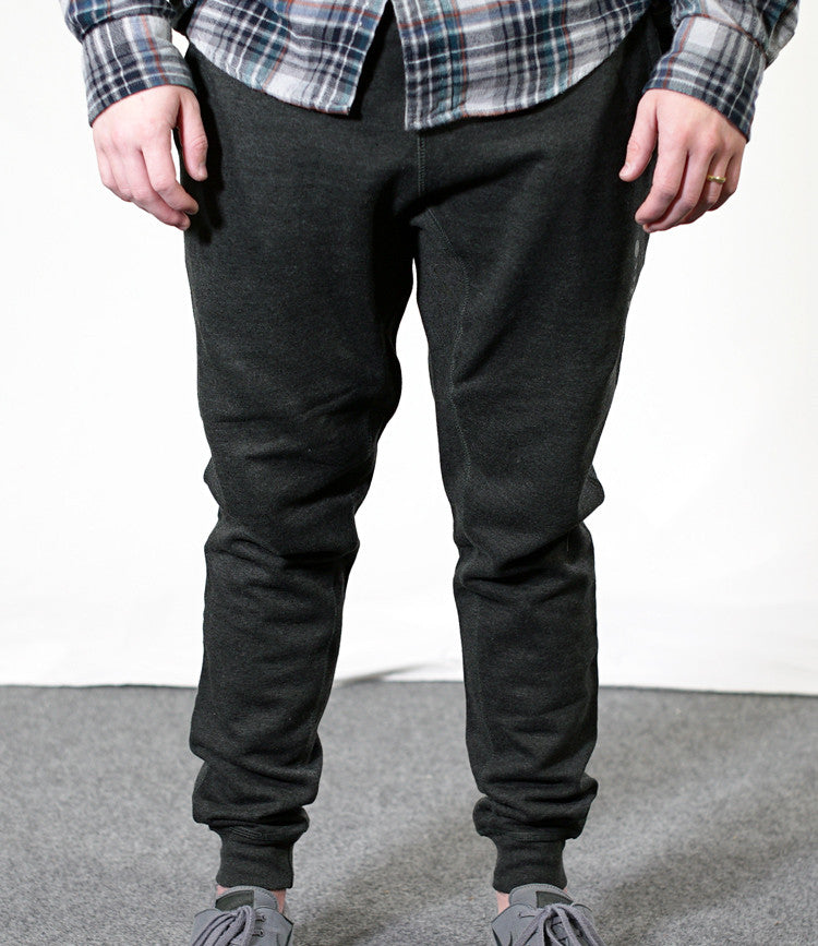 Heather Black Joggers
