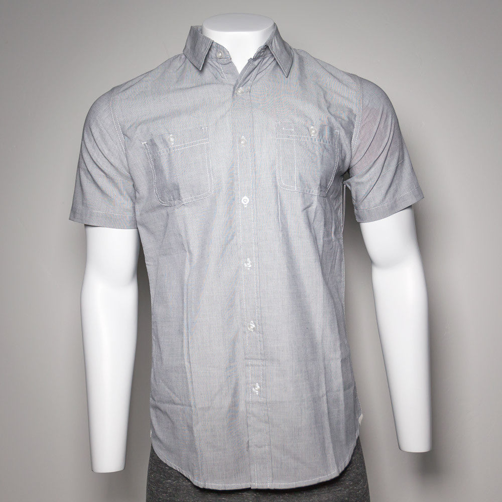 Button-Up Short Sleeve Gray