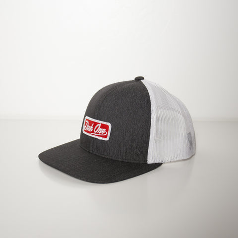 Grey/White/Red Hat