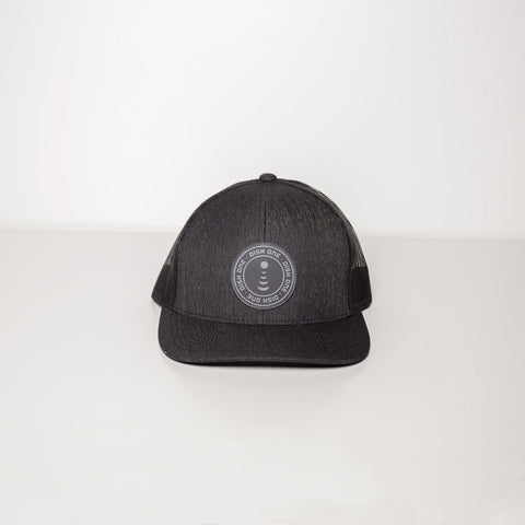 Black Heather Trucker Mesh Hat