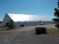 Flagstaff AZ, outside of baseball faculity, cages, mounds machines inside