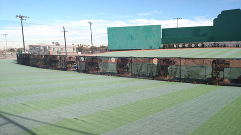 Baseball hitting facility in Las Vegas unique because of the field aspect