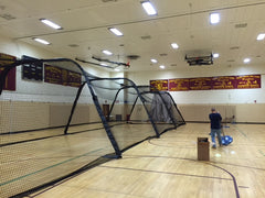 Indoor cage at South Colonie HS NY