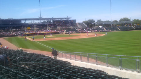fan view of Oaklands A's game in Phoniex AZ 2015