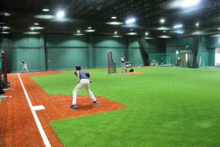 infield drills indoor, hitting, fielding, pitching all part of THF