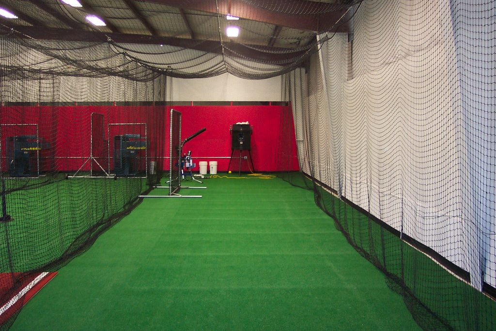 Nylon cage runner and turf install in a batting cage, located in Ft. Meyes FL