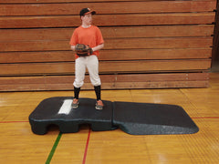 10 inch indoor mound no turf, Collegiate style wide front