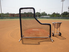 Pro L screen with the batting cage padded sides