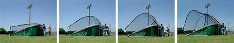 Portable home plate batting cage, big Bubba, turtle,