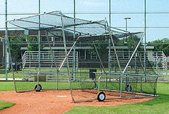 Folding Home Plate Cage and usable on the field