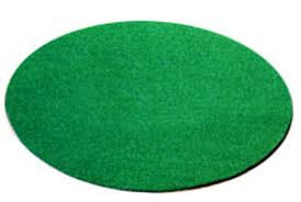 Green Fungo or On Deck Circle with 5mm foam back, tough nylon fiber, save the field