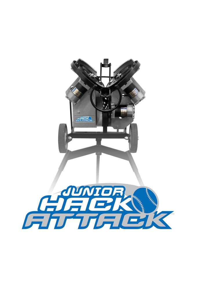 Hack Attack pitching machine, baseball, softball, light, easy to move