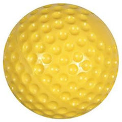 Yellow Poly dimple baseball, good for all pitching machines