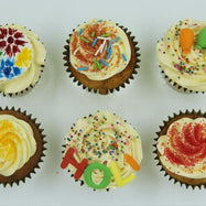 Holi Colourful Cupcakes