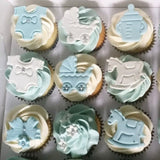 Baby Shower customized cupcakes