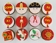 CNY Cupcakes - Auspicious Beginnings (Box of 12) - Cuppacakes - Singapore's Very Own Cupcakes Shop