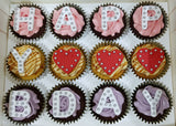 Alphabet Cupcakes (Box of 12) - Cuppacakes - Singapore's Very Own Cupcakes Shop