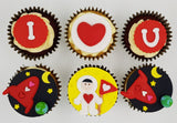 Valentine's Day Cupcake Set - I Love You To The Moon And Back - Cuppacakes - Singapore's Very Own Cupcakes Shop