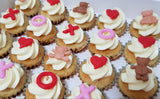 Valentine's Day Mini Cupcake Set - Hugs and Kisses
