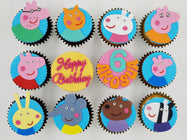 Peppa Pig and Friends Cupcakes (Box of 12) - Cuppacakes - Singapore's Very Own Cupcakes Shop