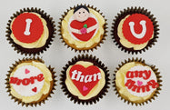Valentine's Day Cupcake Set - I Love You More Than Anything - For Her