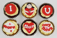 Valentine's Day Cupcake Set - I Love You More Than Anything - For Him