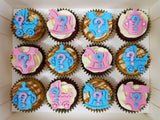 Gender Reveal Cupcakes (Box of 12) - Cuppacakes - Singapore's Very Own Cupcakes Shop