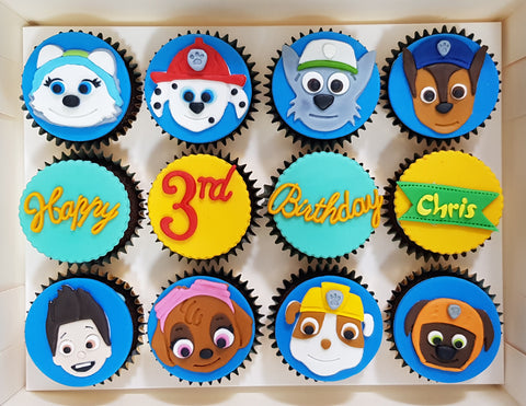 Paw Patrol Cupcakes (Box of 12) - Cuppacakes - Singapore's Very Own Cupcakes Shop