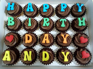 Alphabets Mini Cupcakes (Box of 20)