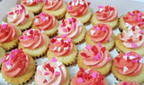 Heart Sprinkles Mini Cupcakes (Box of 20) - Cuppacakes - Singapore's Very Own Cupcakes Shop