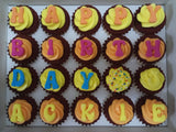 Alphabets Mini Cupcakes (Box of 20) - Cuppacakes - Singapore's Very Own Cupcakes Shop