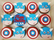 Superhero Cupcakes (Box of 12) - Cuppacakes - Singapore's Very Own Cupcakes Shop