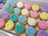 Assorted Colour Frosting Mini Cupcakes (Box of 20) - Cuppacakes - Singapore's Very Own Cupcakes Shop