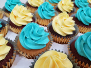 Assorted Colour Frosting Cupcakes (Box of 12)