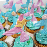 Mermaid Tail Cupcakes (Box of 12) - Cuppacakes - Singapore's Very Own Cupcakes Shop