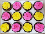 Assorted Colour Frosting Cupcakes (Box of 12) - Cuppacakes - Singapore's Very Own Cupcakes Shop