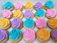 Assorted Colour Frosting Mini Cupcakes (Box of 20)