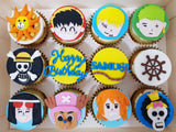 One Piece Cupcakes (Box of 12) - Cuppacakes - Singapore's Very Own Cupcakes Shop