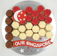 SG54 National Day Mini Cupcake Set - Cuppacakes - Singapore's Very Own Cupcakes Shop
