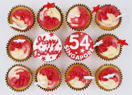 SG54 National Day Cupcakes (Box of 12) - Cuppacakes - Singapore's Very Own Cupcakes Shop