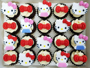 Hello Kitty Mini Cupcakes (Box of 20) - Cuppacakes - Singapore's Very Own Cupcakes Shop