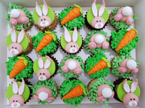 Little Bunny Mini Cupcakes (Box of 20) - Cuppacakes - Singapore's Very Own Cupcakes Shop