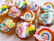 Rainbow Unicorn Cupcakes (Box of 12) - Cuppacakes - Singapore's Very Own Cupcakes Shop