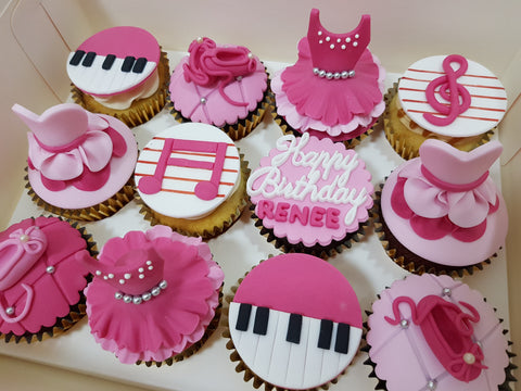 Ballerina Cupcakes (Box of 12) - Cuppacakes - Singapore's Very Own Cupcakes Shop